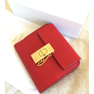 クロエ(Chloe)のChloe 折り財布♡ドリューシリーズの可愛いレッド!♡(財布)