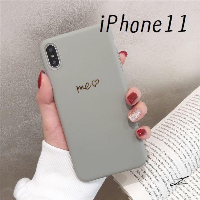 大人気!iPhone11 シンプルカラー カバー ケース グレーの通販 by すわりん's shop ラクマ