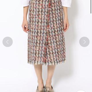 エディション(Edition)のファンシーツイードフリンジラップスカート(ひざ丈スカート)