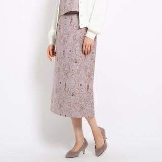 エージーバイアクアガール(AG by aquagirl)のミモレ丈 ペイズリージャガードスカート(ロングスカート)