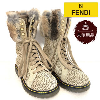 FENDI - 【未使用品】フェンディ FENDI ファー付きブーツ マイクロズッカ