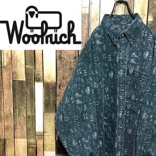 WOOLRICH - 【激レア】ウールリッチ☆メキシコ仕上げアウトドアツール総柄シャツ 90s