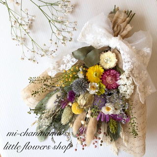 【花様専用♩】贈りたくなる♡大人可愛いブーケスワッグ/ナチュラルボタニカル(ドライフラワー)