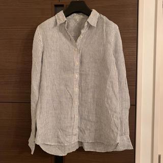 ムジルシリョウヒン(MUJI (無印良品))の無印良品 リネン100% ストライプ シャツ / ブラウス IENA ZARA(シャツ/ブラウス(長袖/七分))