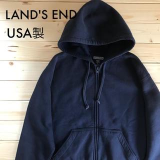 ランズエンド(LANDS'END)のランズエンド パーカー USA製 90's ヴィンテージ古着(パーカー)