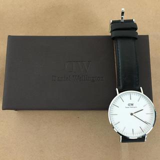 ダニエルウェリントン(Daniel Wellington)のダニエルウェリントン 腕時計 40mm 本革【要プロフ参照】(レザーベルト)