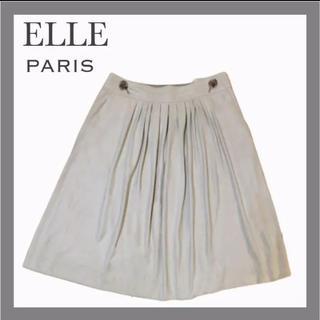 エル(ELLE)の【人気ブランド破格!】エル スウェード風 フレア Aライン タックスカート(ひざ丈スカート)