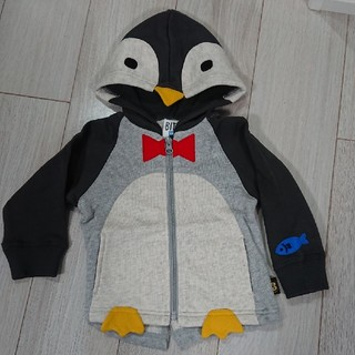 ビッツ(Bit'z)のビッツ ペンギンなりきりパーカー 80㎝ 新品未使用(トレーナー)