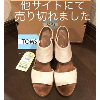 TOMS - TOMS テキスタイル ヒールサンダル 白