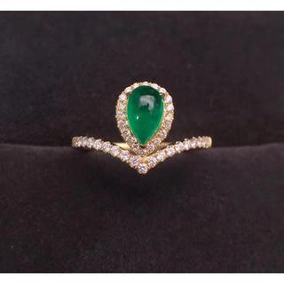 エメラルドダイヤモンドリング(リング(指輪))