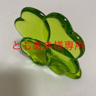 バカラ(Baccarat)のBACCARAT バカラ 置物 クローバー クリスタル グリーン(置物)