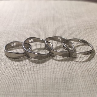 マルタンマルジェラ(Maison Martin Margiela)の4連リング シルバーリング マルジェラ風(リング(指輪))