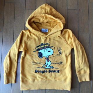 プティマイン(petit main)のb-ROOM  SNOOPY フード付パーカー 110(Tシャツ/カットソー)
