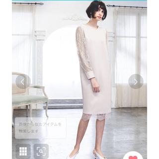 ガール(GIRL)の新品 フラワー レース Vネック タイト 結婚式 ワンピース ドレス(ミディアムドレス)