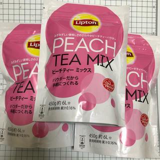 ユニリーバ(Unilever)のリプトン ピーチティー ミックス 450g 3袋 新品・未開封(茶)