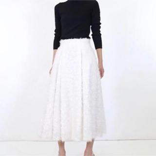 ルシェルブルー(LE CIEL BLEU)のルシェルブルー フェザースカート(ロングスカート)