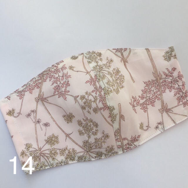 マスク ルイン 、 14白色リバティ♡ピンクガーゼ 布マスクの通販