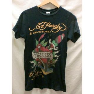 エドハーディー(Ed Hardy)のEd Hardy TRUEブラックTシャツLAセレブブランド良品S(Tシャツ(半袖/袖なし))