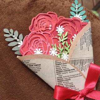 パリの花束のハンドメイドカード(カード/レター/ラッピング)