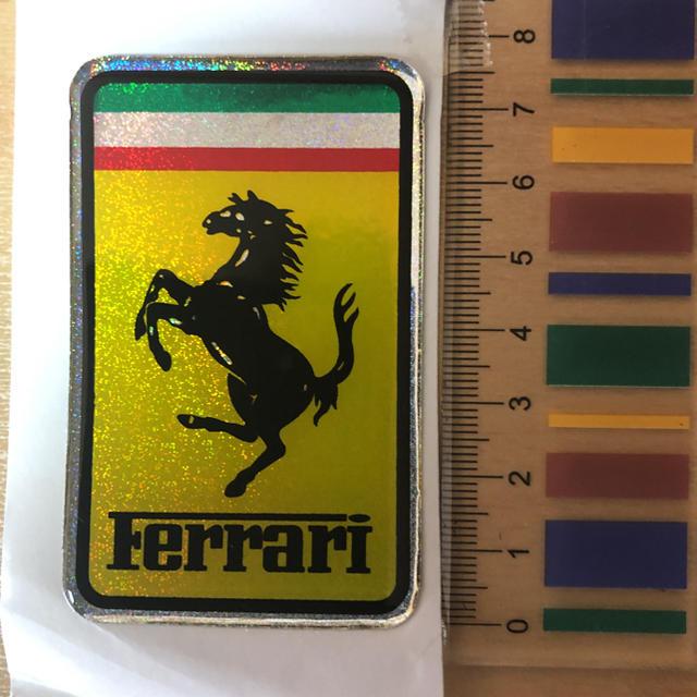 Ferrari(フェラーリ)のフェラーリ Ferrari ホログラム エンブレム 3D 高級 テスタロッサ 自動車/バイクの自動車(車外アクセサリ)の商品写真