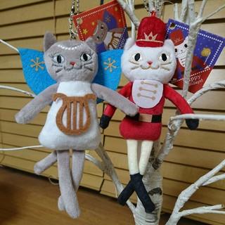 カルディ(KALDI)のくたくたネコ エンジェル & くるみ割り人形(ぬいぐるみ/人形)