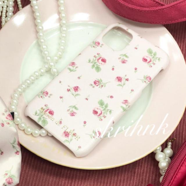 iphone 11 ケース 財布 、 Maison de FLEUR - 限定♡メゾンドフルール♡ピンクマニアローズiPhone11ケース♡薔薇♡フラワーの通販 by    ᕱ⑅ᕱ|メゾンドフルールならラクマ