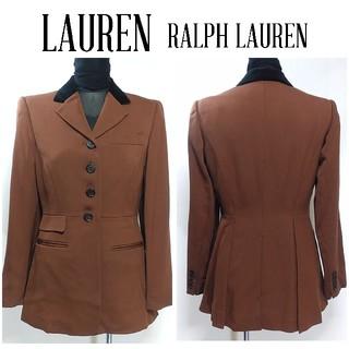 Ralph Lauren - ローレン ラルフローレン 異素材 ジャケット 2P 茶色 レディース