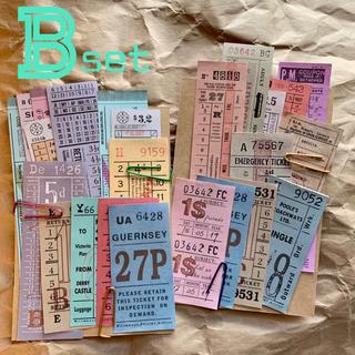 ☆Bset☆ヴィンテージチケット☆24種48枚☆おすそ分けセット☆海外☆紙もの(印刷物)