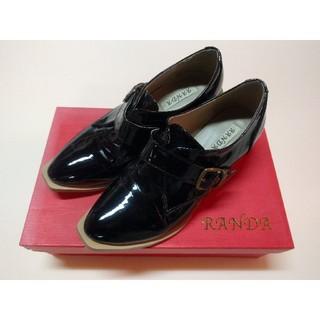 ランダ(RANDA)のRANDA ウォータープルーフ ローファー 黒(ローファー/革靴)