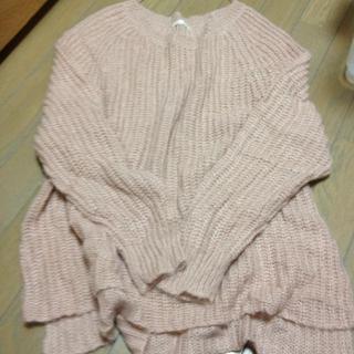 ジーユー(GU)の薄ピンクセーター☆送料込(ニット/セーター)