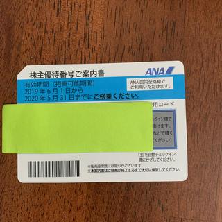 エーエヌエー(ゼンニッポンクウユ)(ANA(全日本空輸))のANA株主優待券5月31日→11月30日まで有効(航空券)