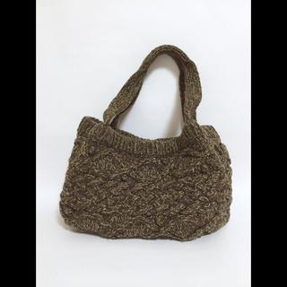 ムジルシリョウヒン(MUJI (無印良品))の美品■無印■ウールニットバッグ(ハンドバッグ)