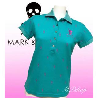 マークアンドロナ(MARK&LONA)のマークアンドロナ MARK&LONA 総柄 刺繍 半袖 ポロシャツ レディース(ウエア)