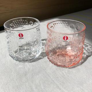 イッタラ(iittala)のイッタラ フルッタ クリア サーモンピンク 2個セット(グラス/カップ)