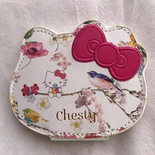 チェスティ(Chesty)のChesty×Hello Kittyの拡大鏡付き両面ミラー (ミラー)