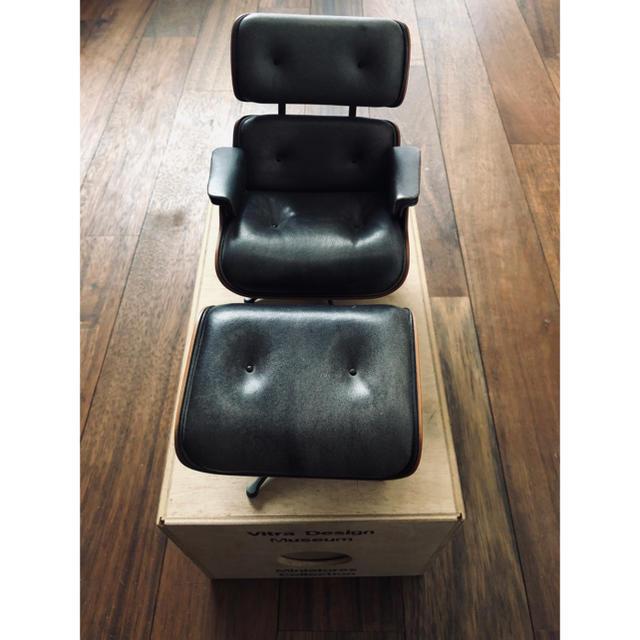 EAMES(イームズ)のVitra ヴィトラ  ミニチュア ラウンジチェア イームズ インテリア/住まい/日用品の椅子/チェア(その他)の商品写真