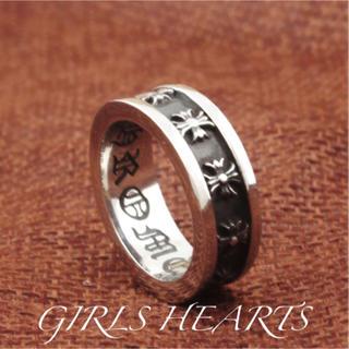 送料無料14号クロムシルバーサージカルステンレスクロス十字架スペーサーリング指輪(リング(指輪))