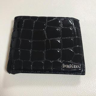 プラダ(PRADA)の★lily様専用★プラダ 財布 二つ折り クロコ型押し(折り財布)