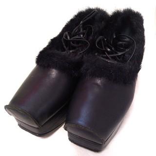 ジェーンマープル(JaneMarple)のJaneMarple 編み上げ靴 黒 23.5cm ジェーン(ブーツ)
