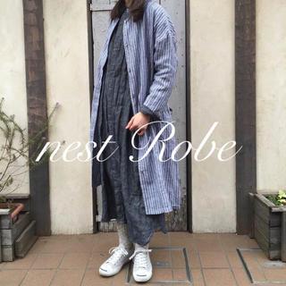 ネストローブ(nest Robe)の* nest Robe * 2016  リネン ストライプコート 羽織り(ロングコート)