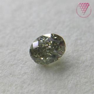 0.076 ct F.G.GREEN SI2 天然 グリーンダイヤ(リング(指輪))