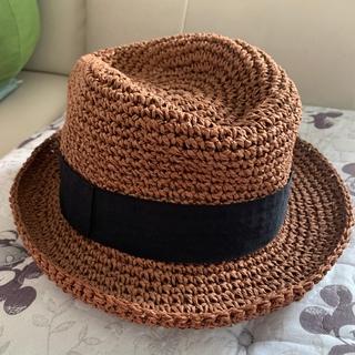 ジーユー(GU)の麦わら帽子 ブラウン(麦わら帽子/ストローハット)