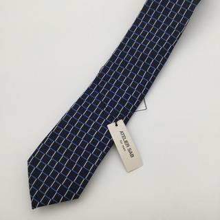 アトリエサブ(ATELIER SAB)の新品未使用 アトリエサブ ATELIER SAB ネクタイ シルク 紺色(ネクタイ)