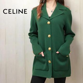 セリーヌ(celine)の0349 美品♪ CELINE コート 緑(チェスターコート)