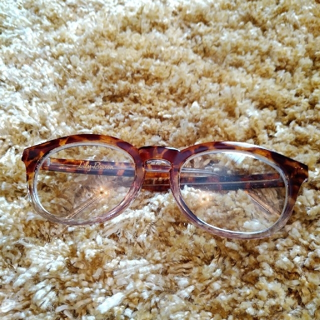 Lily Brown(リリーブラウン)の伊達メガネ「べっ甲柄」 レディースのファッション小物(サングラス/メガネ)の商品写真