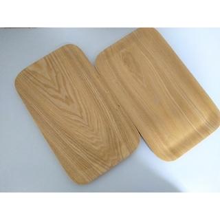ムジルシリョウヒン(MUJI (無印良品))の新品 無印良品の木製トレー2枚組(テーブル用品)