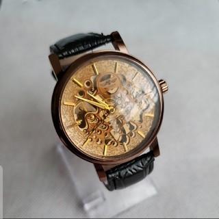 新入荷 新品 機械式時計の男性トップブランドの高級時計ビジネス腕時計スケルトン(腕時計(アナログ))