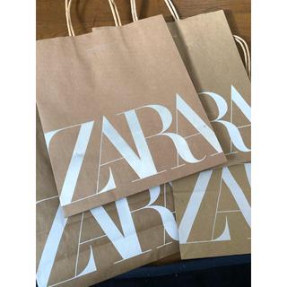 ザラ(ZARA)のZARAショップ袋 キラキラ入り 3点(ショップ袋)