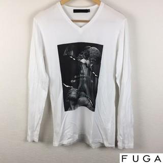 フーガ(FUGA)の美品 FUGA フーガ 長袖Tシャツ ホワイト サイズ44(Tシャツ/カットソー(七分/長袖))