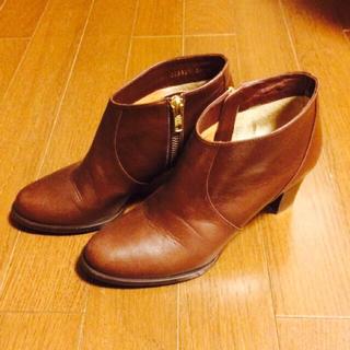 ビューティアンドユースユナイテッドアローズ(BEAUTY&YOUTH UNITED ARROWS)の茶色ショートブーツ(ブーツ)